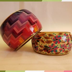 Jewelry - Set of 2 Colorful Bracelet Cuffs